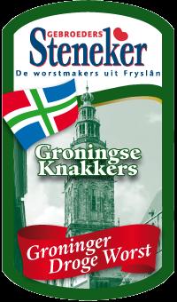 Steneker droge worst groningse knakkers etiket